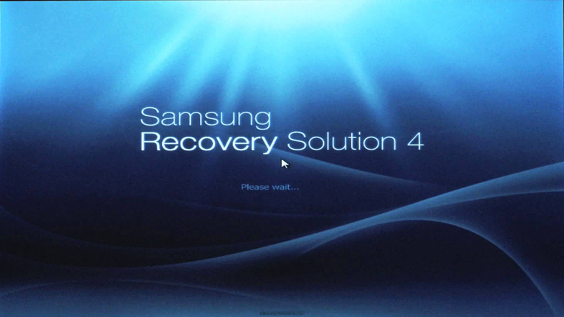 Запускаем Samsung Recovery Solution